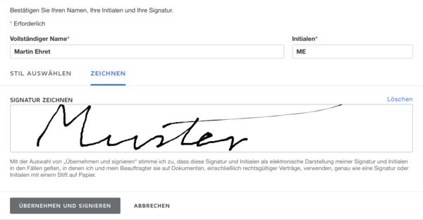 DocuSign - elektronische Unterschrift