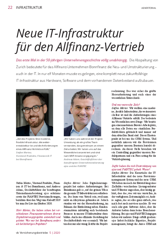 Interview Bonnfinanz