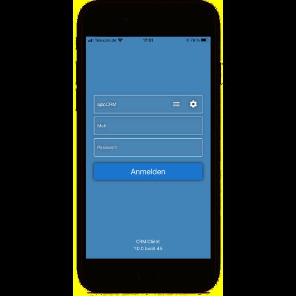 Aurea CRM.Client iPhone Login