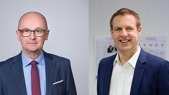 Horst Stolzenberg (DOMCURA AG) und Martin Ehret (ajco solutions GmbH)