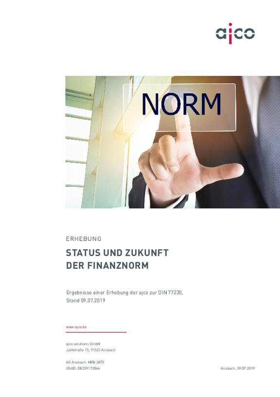 Erhebung zur Finanznorm