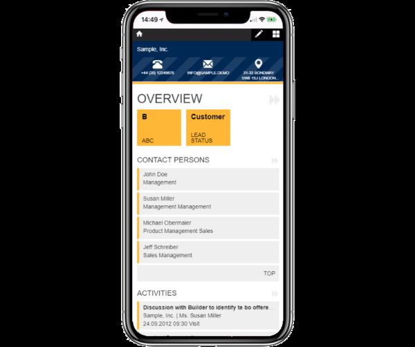 Die mobile, browserbasierte CRM-Anwendung für viele Betriebssysteme und Smartphones