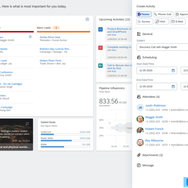 Microsoft Teams Integration in SAP Sales Cloud